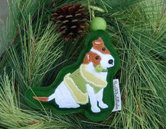Jack Russell Terrier Ornament by BestFriendsStudios on Etsy
