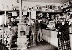 This is 1900 in O'Hurleys Store in Shepherdstown, WV along the Maryland border & it's still open in 2014-the pot belly stove is still there)--Early West Virginia and Its History