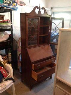 Antique Secretary Desk Hutch One For All Pinterest