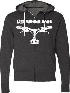 Mountain Bike Hooded SweatshirtLife Behind by SpokeNwheelz on Etsy, $36.95