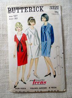 Vintage Simplicity 6737 Bust 32 TEEN by momandpopcultureshop