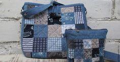 Simple Pretty Boro Style Bag Sew Tutorial. - Easy Step to Step DIY!