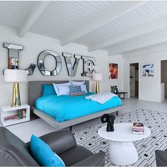 100 Cool Bedroom Interior Design Ideas and Decoration – Home Decor DIY Closet Organization Bedroom Wall, Bedroom Decor, Bed Room, Master Bedroom, Wall Decor, Interior Exterior, Interior Design, Mid Century Modern Bed, Turquoise Room