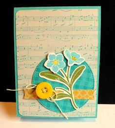 Blue Flowers by DJRants - Cards and Paper Crafts at Splitcoaststampers