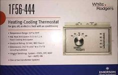 White-Rodgers 1F56-444 Universal Horizontal Heat/Cool Thermostat #ebay #trinital #Heat/CoolThermostat