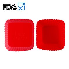Home.lolo 6x Square Silicone Muffin Case Cake Cupcake Liner Baking Mold Mould 7CM SCM02-16 *** Trust me, this is great! Click the image. : Small Pastry Molds