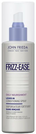 I have been using this every day and it has been keeping the frizzies at bay!  Also it conditions and protects my hair.        I just use a few spritz around, give a quick brush through and blow dry.  My hair has kept super soft and silky, root to tip :).