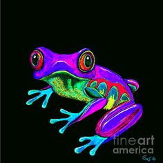Rainbow Frog by Nick Gustafson - Rainbow Frog Painting - Rainbow Frog Fine Art Prints and Posters for Sale