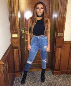 Fighting back: It is also not the first time that the Little Mix girls have hit back at pressing interview questions - with Perrie and Jade scolding an interviewer for prying over Jesy Nelson's current engagement to Jake Roche (Jesy above) Little Mix Outfits, Little Mix Jesy, Little Mix Style, Little Mix Girls, Cute Outfits, My Style, Little Mix Fashion, Fall Outfits, Jesy Nelson