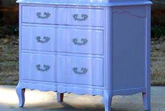General Finishes Royal Purple and Antique White Milk Paint