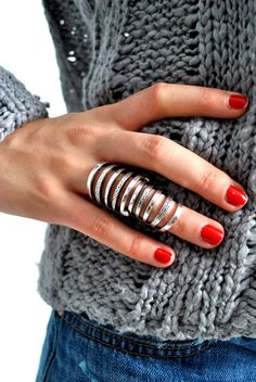 short nails + a badass ring