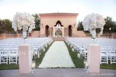 These ceremony flowers are utterly breathtaking!