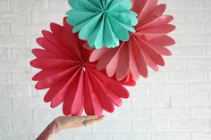 nursery decor ... 5 pomwheels ... custom pinwheels// baby mobile // childrens birthday party decorations // bar bat mitzvah // classroom by pomtree on Etsy