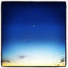 Mercury,Jupiter & The Moon sunset over Lake Michigan aka Big Blue