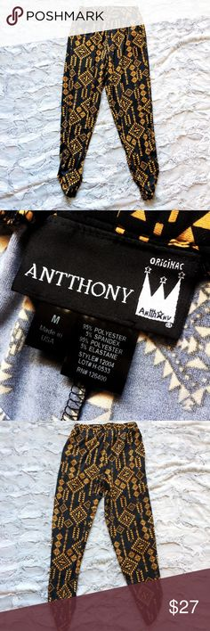 Antthony Originals black and mustard harem pants Make an offer! No trades. Bundle and save - I'm a fast shipper! Antthony Pants Track Pants & Joggers