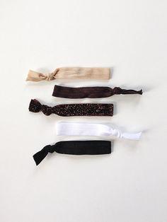 elastic hair ties -- chocolate sparkle palette / etsy