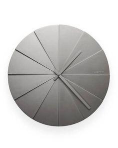 Roundabout gray clock