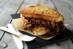 MY HUBBY'S BLOG: Roast Beef & French Onion Grilled Cheese