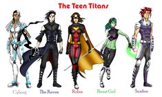 """Teen+Titans+Female+Characters 
