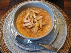 Mmmmmm Max & Ermas tortilla soup. I make this all the time, it's AWESOME and dead on. I use all the reduced sodium and lower fat soups though. I feel a tad better that way. HA!  (comments are not mine, they are from a previous pinner!)