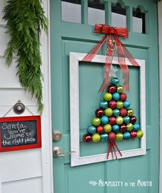 DIY Wreath Christmas Tree made of Ornaments