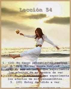 Lecciones Curso de Milagros: Lección CDM 054