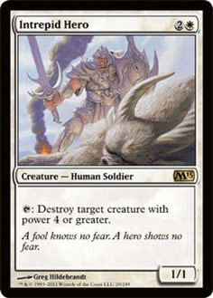 Intrepid-Hero-x4-Magic-the-Gathering-4x-Magic-2013-mtg-card-lot-rare-soldier