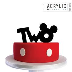 Mickey Mouse Cake  Birthday Topper  TWO  Mickey Ears