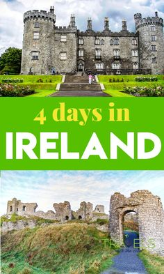Everything you should do if you only have 4 days in Ireland. Transportation tours attractions Cork Castles Galway Cliffs of Moher Waterford Crystal and more! Europe Travel Guide, Travel Guides, Travel Destinations, Travel Uk, Ireland Vacation, Ireland Travel, European Destination, European Travel, Ireland With Kids