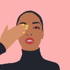 The illustrator hotlist 2018 Black Girl Art, Black Art, Art Girl, Free Illustration, Lovers Art, Art Inspo, Bunt, Vector Art, Designer