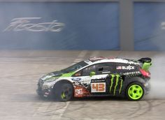 Watch the #2014 #Ford #Fiesta #ST debut in a #cloud of #Ken #Block #smoke at the #2012 #LA #Auto #Show