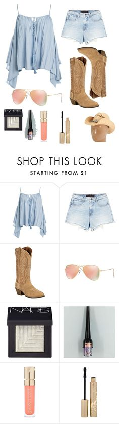 """""""country girl"""" by babyboo04 on Polyvore featuring Sans Souci, Alexander Wang, Ariat, Ray-Ban, NARS Cosmetics, Smith & Cult, Stila, M&F Western and country"""