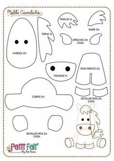 Cavalinho feltro ou tecido