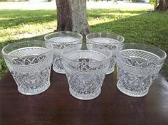 5 Vtg Imperial Glass Cape Cod Double Old Fashioned Flat Tumblers | eBay
