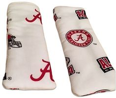 "Amazon.com: Custom & Durable {6"" Inch Each} 2 Set Pack of Small Size ""Non-Slip"" Pot Holders Made of Cotton for Carrying Hot Dishes w/ Handmade Alabama College Football Design Style [Red, White, & Black]: Home & Kitchen"