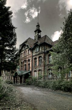Beelitz was abandoned as the Soviets left East Germany, and it's been slowly decaying since, melting back into the forest.Beelitz-Heilstätten Military Hospital. Brandenburg, Germany.