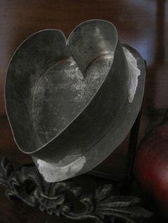 1800's tin heart cookie cutter
