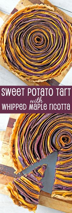 Spiral Sweet Potato Tart with Whipped Maple Ricotta:both delicious and beautiful enough to star at your next holiday dinner. {Bunsen Burner Bakery}