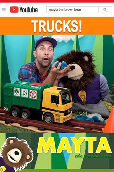 Trucks for Kids! Garbage truck and construction trucks for Children. Learn about street vehicles with MAYTA and B. Does your kid love garbage trucks, excavat. Baby Learning Videos, Toddler Learning, Toddler Activities, Truck Videos For Kids, Cement Mixers, Sock Hop, Garbage Truck, Firetruck, Emergency Vehicles