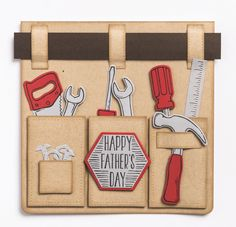 Father's Day card made with Stampin' Up!'s Nailed It stamp set and Build It dies, by Simonne Clay for Cardmaking & Papercraft issue 170 (June 2017)