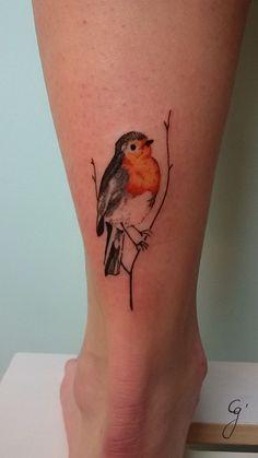 Sanne-roodborstje_Naomi – The Ink Society Sanne-robin_Naomi – Die Tintengesellschaft Trendy Tattoos, Love Tattoos, Beautiful Tattoos, Tatoos, Robin Bird Tattoos, Robin Tattoo, Bird Tattoo Meaning, Small Tattoos With Meaning, Tattoos Skull