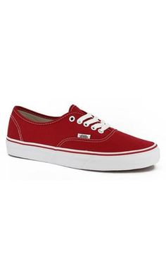 Vans Authentic Sneaker Red - Fuel Clothing