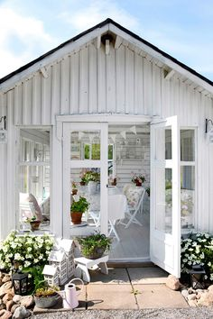 Outdoor Garden Rooms, Outdoor Decor, She Sheds, Conservatory, Backyard, Cozy, Places, Summer, Green Houses
