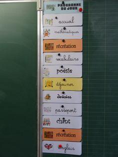 Les étiquettes emploi du temps mise à jour avec les nouvelles dénominations