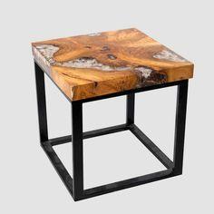 Farmhouse Furniture, Rustic Furniture, Vintage Furniture, Wood Slab, Teak Wood, Root Table, Square Side Table, Resin Table, Traditional Furniture