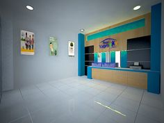 desain interior backdrop dan cradenza kantor banjarbaru