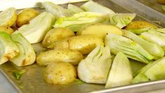 Oven-Roasted Vegetables, Fennel, Fingerling Potatoes,Brussels Sprouts - from Ina Garten and other tasty dishes on Food Network. Roasted Vegetable Recipes, Roasted Vegetables, Veggies, Veggie Recipes, Food Network Uk, Food Network Recipes, Cooking Recipes, Cat Recipes, Potato Recipes