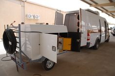 Telecommunication Vehicle is like a moving communications tool. It facilitates portable communication without any discomfort to the communicators. Recreational Vehicles, Communication, Camper Van, Communication Illustrations, Rv Camping, Camper