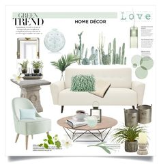 """""""Mint Green"""" by rever-de-paris ❤ liked on Polyvore featuring interior, interiors, interior design, home, home decor, interior decorating, NDI, Kartell, Jonathan Adler and Nude"""