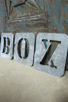 Vintage Zinc Stencil Letters $18.00 by nancy